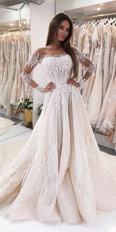 fdc98986102 30 Stunning Long Sleeve Wedding Dresses For Brides