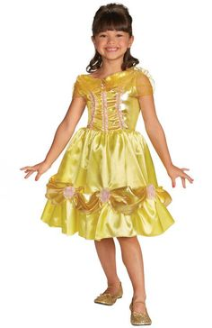 toddler girl's costume: belle sparkle classic-3t-4t