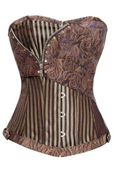 Take a closer look at our Atomic Brown Steampunk Jacquard Stripe Overbust Corset. https://atomicjaneclothing.com/products/brown-jacquard-stripe-corset