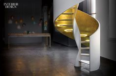 Showstopping, fully customizable staircases are this Italian maker Rizzi Stair's forte. Exhibit A: Scaloro, designed by architect Carlo Caretta. The self-supporting single helix...