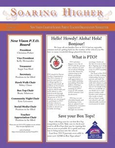 Soaring Higher Newsletter – First Edition » New Vision Charter School PTO