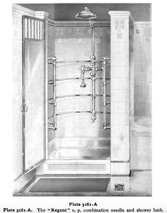 Mott's Iron Works Modern Plumbing catalog from They had some pretty nice tile designs in this catalog. Edwardian Bathroom, 1920s Bathroom, Vintage Bathrooms, Bungalow Bathroom, Craftsman Bathroom, Bath Design, Tile Design, Art Nouveau, Old Sink