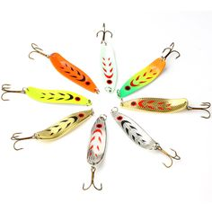 1Pcs Mepps Metal Spinne Fishing Lure 10.5cm 18g 2# hook Peche Spoon Bait Fishing Tackle Winter Artificial Fake Fish Lures WQ8106