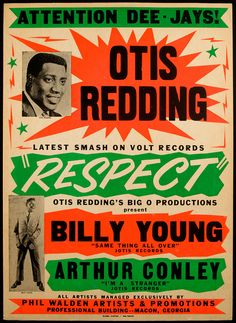Classic Otis Redding Playbill — with Billy Young & Arthur Conley