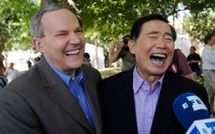 Star Trek alum George Takei didn't come out until 2005, at which point he had been in a stable, devoted relationship with his partner, Brad Altman, for almost 18 years. In 2008, George and Brad were the first openly gay couple to apply for a marriage license in West Hollywood and were quickly hitched at the Democracy Forum of the Japanese American National Museum in LA.