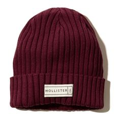 Logo Beanie Girls Shoes (895 EGP) ❤ liked on Polyvore featuring accessories, beanie and hollister
