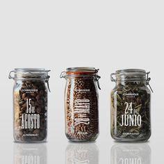 #archive Silk-screened jars for the seasonal goods harvested in the Son Brusque villa #mallorca #packaging #identity #food #sonbrusque #designbyatlas #atlas