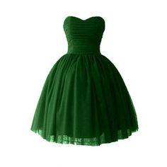 Medon's Women's Sweetheart Short Bridesmaid Chiffon Homecoming Prom Ball Gown Dresses