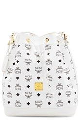 MCM 'Small Heritage' Coated Canvas Bucket Bag
