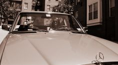 N and P goes for a cruise in a vintage Benz