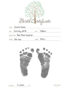 free printable birth certificate template free printables free stuff pinterest birth certificate certificate and free printable - Baby Birth Certificate Template