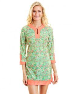 Palm Breeze Tunic Dress, $75.60 Cabana Life 50+ UPV Sun Protective Clothing