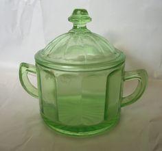Hazel Atlas Green Glass | Other Hazel-Atlas Depression Glassware Glass Pottery & Glass