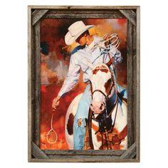 Cowboy Barnwood Framed Print - CLEARANCE