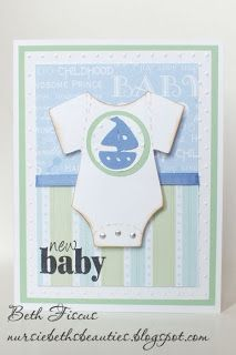Beth's Beauties: Onesie Baby Boy Card #svgattic