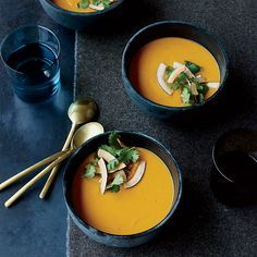 Learn to make this fragrant and delicious Thai coconut and sweet potato soup at Food & Wine.