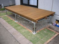 f:id:saito-kazuo:20090503171137j:image Pipe Dream, Backyard, Patio, Home Reno, Garden Projects, Diy And Crafts, Deck, House Design, Flooring