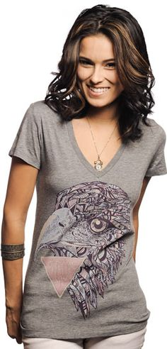 Womens V-Neck  Tee sevenly.org supporting laura's house to silence domestic abuse