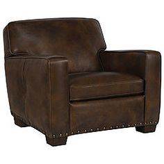 Dale Brown Leather Chair