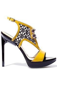 Jason Wu Yellow High Heeled Sandal Resord 2013 #Shoes #Heels