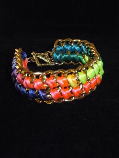 A personal favorite from my Etsy shop https://www.etsy.com/listing/127481166/neon-chain-braceletgold-chain
