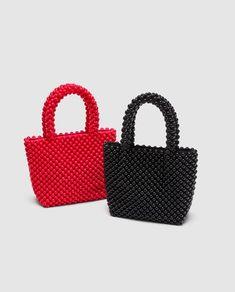 Imagem 6 de TOTE BAG PEQUENA COM BOLINHAS da Zara