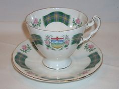 Vintage Ridgway Potteries Royal Adderley Alberta Tartan China Tea Cup & Saucer