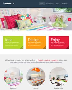 This interior design and furniture WordPress theme has WooCommerce and WPML support, Revolution Slider, a responsive layout, unlimited colors, a shortcode manager, 8 custom widgets, unlimited portfolios, and more.
