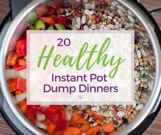 20 Healthy Instant Pot Dump Dinner Recipes These healthy Instant Pot dump dinner recipes are the fastest yet. Just dump it all in one pot and push start. Every recipe is healthy and diet friendly. Healthy Crockpot Recipes, Gourmet Recipes, Healthy Tips, Dump Recipes, Healthy Food, Crockpot Dishes, Healthy Vegetables, Entree Recipes, Crockpot Meals