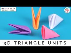 How to Fold 3D Origami Pieces - Make the 3D Origami Triangle Units (3D Origami Basics)! - YouTube