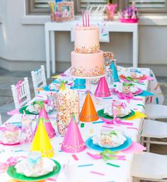 Sprinkle Themed Birthday Party 3rd Birthday Party For Girls, Birthday Party Images, Colorful Birthday Party, 21st Party, Girl Birthday Themes, Birthday Ideas, Birthday Party Table Decorations, Birthday Party Tables, Graduation Decorations