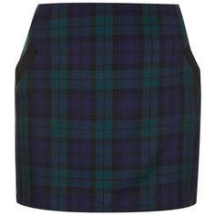 Women's Topshop Plaid Miniskirt (1.185 ARS) ❤ liked on Polyvore featuring skirts, mini skirts, bottoms, faldas, plaid skirt, topshop mini skirt, blue plaid skirt, plaid miniskirts, short blue skirt and short plaid skirt