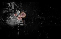 Dark Flowers PreMade Background by VaLeNtInE-DeViAnT.deviantart.com on @DeviantArt