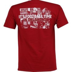 Champion Men's University of Oklahoma 2017 Football Fan T-shirt (Red Medium, Size XX Large) - NCAA Licensed Product, NCAA Men's Tops at Academy Sports