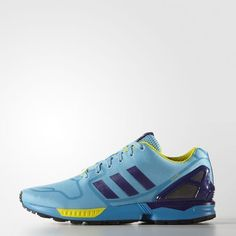 c78818acef7e New Mens Adidas Originals ZX Flux TECHFIT Running Shoes Sz 10 5 Blue AF6303