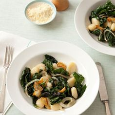Gnocchi with Sauted Swiss Chard...one of my favorite meals!