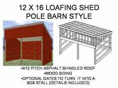 loafing shed - Google Search