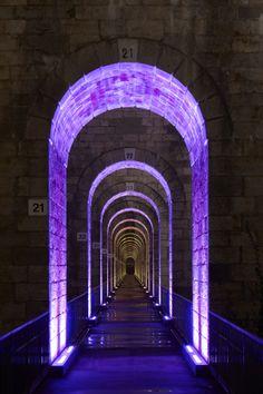 Chaumont Viaduct, France. Lighting design: Jean-François Touchard - iGuzzini illuminazione - Phot.Didier Boy de la Tour.