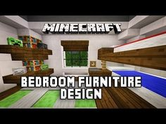 Minecraft Tutorial: How To Make A Modern Bedroom With Bunk Beds (Modern House Build Ep. 18) - YouTube