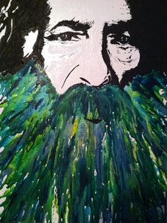 Old Man River: Original Melted Crayon Art   Like our Facebook page to see more: https://www.facebook.com/MeltingMiltons