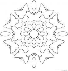 Free mandalas coloring > Animal Mandalas > Animal Mandala Design 8 - Cat