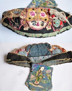 """Five Poisons Medicine Toad ""Old Chinese Baby hat~Image © MAantique /Beijing Yaguan Art Center"