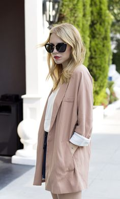 sunglasses are awesome..and love this oversized blazer