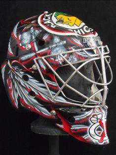 bkackhawks goalie masks | 2011-12 NHL Goalie Masks - Corey Crawford - Too Many Men on the Site ...