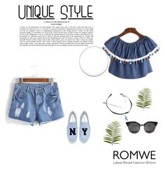 """""""Romwe 99"""" by zerina913 ❤ liked on Polyvore featuring Joshua's, Pier 1 Imports and romwe"""