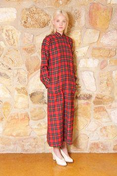 Junya Watanabe 1995 tartan maxi dress, 100% wool. Via Claireinc on etsy.