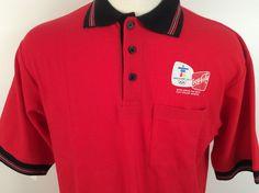 Olympics Vancouver 2010 Coca Cola Polo Shirt Red Nwt Size Medium Marv Holland… #Olympics #CocaCola #polo #shirt #ebay