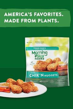 From the freezer to your fork in just a few minutes, MorningStar Farms® Chik'n Nuggets are the perfect after-school, after-work, or even after-midnight snack.  Quick, easy and delicious, these crispy and tender nuggets are made with 100% plant-protein. Vegetarian Appetizers, Vegetarian Recipes, Cooking Recipes, Healthy Recipes, I Love Food, Good Food, Yummy Food, Yummy Yummy, Air Frier Recipes