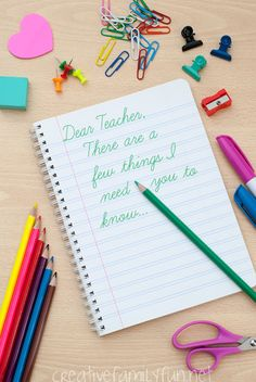 Dear Teacher: There Are a Few Things I Need You To Know before the school year starts