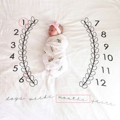 <Click Image to Buy> Novelty Baby Birthday Full Moon Blanket Cotton Baby Swaddle Newborn Infant Cotton Wrap Gauze Photography Props Receiving Blanket *** Baby Swaddle, Swaddle Blanket, Baby Kranz, Baby Schmuck, Practical Baby Shower Gifts, Unique Baby Shower Gifts, Baby Monat Für Monat, Baby Monthly Milestones, Monthly Baby